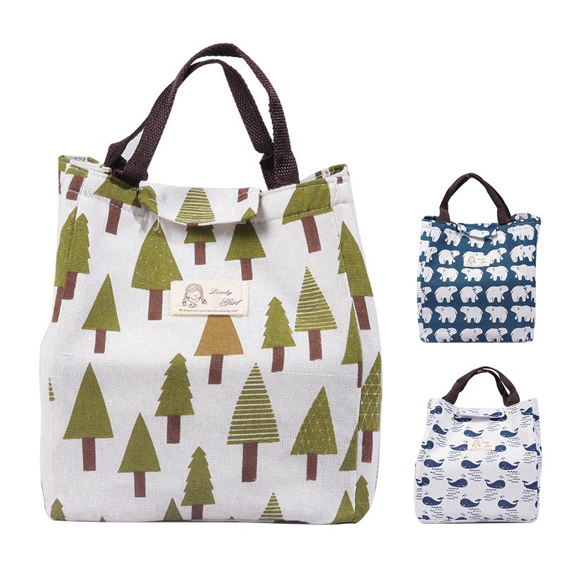 Student lunch box bag ladies folding picnic bag waterproof insulation ice pack