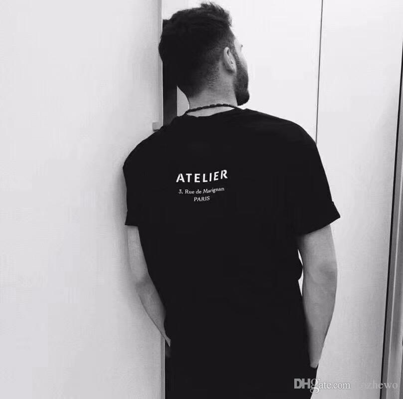Luxus Paris T-shirts Herren Designer T-shirts Marke Kleidung Atelier Sommer Frauen Gedruckt T-Shirts Männliche Top Qualität 100% Baumwolle Tees