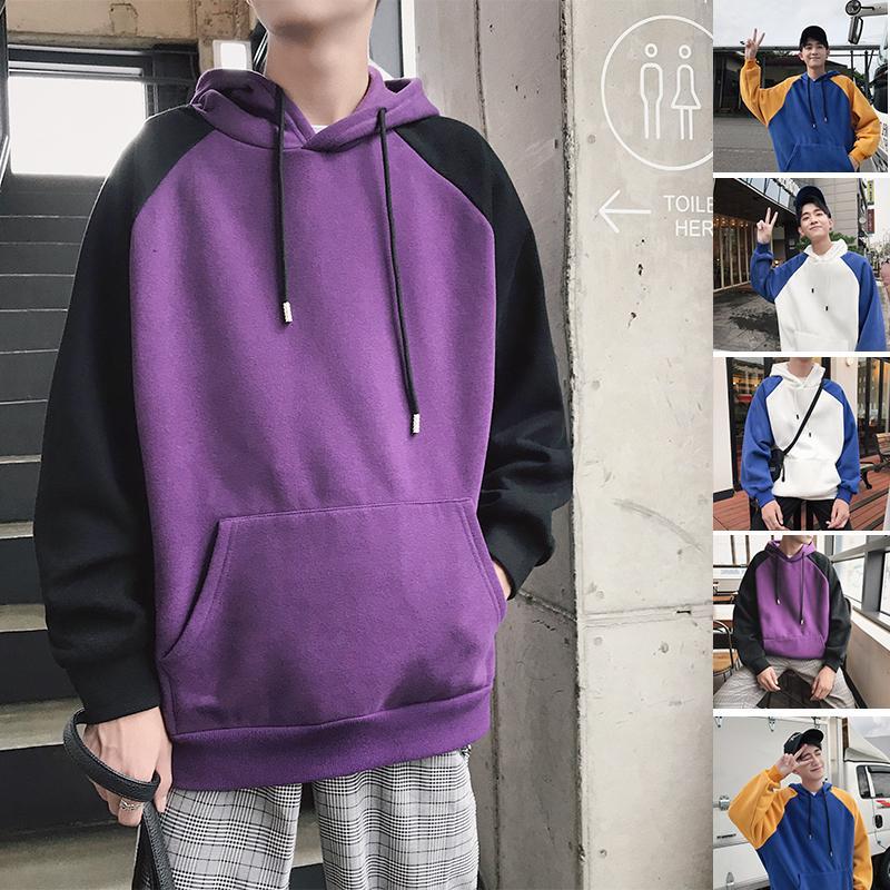 2019 printemps et d'été Nouvelle Version Coréenne Du manches courtes décousu Lettre d'impression à capuche pour hommes Vente chaude