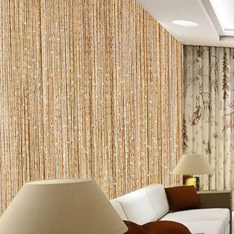 300 * 290 Tópico cortina da corda cortina brilhante Tassel Linha cortinas para Sala Cozinha Janela Porta Divisor Drape Início