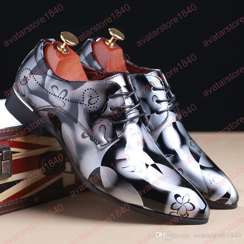 Homens apontou toe vestido casamentos sapatos sapatos formais homens elegantes sapatos de oxford italiano para homens de luxo