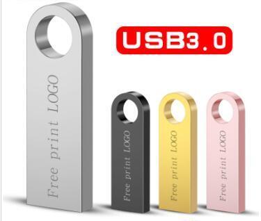 حملة القلم معدنية قياس جميع الترددات 3.0 2.0 32GB 16GB عالية السرعة USB محرك فلاش USB ذاكرة القرص الحرة شعار مخصص