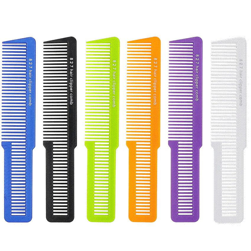 Professional Salon Men Clipper Hair Cut Comb Carbon Barber Hair Comb For Hair Trimming Hairdresser Comb T-827 5 Colors Available