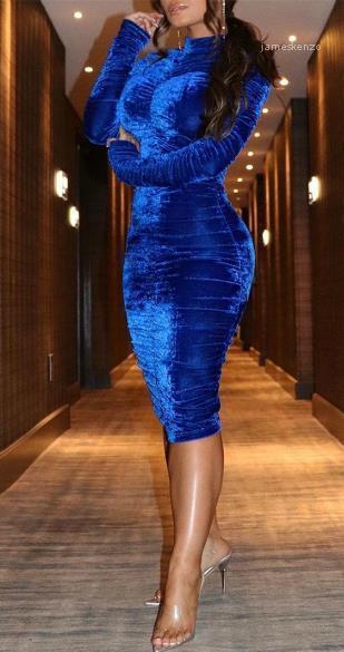 Partido para mujer mangas vestido de la cremallera Diseñador Femenino sólido de lujo color del vestido flaco vestido largo