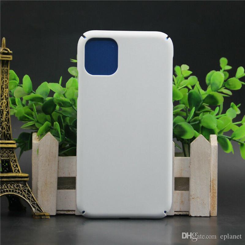 3D التسامي كامل الحافة مغطاة فارغة الحالات الهاتف الأبيض لفون 11/11 برو / 11 PRP ماكس