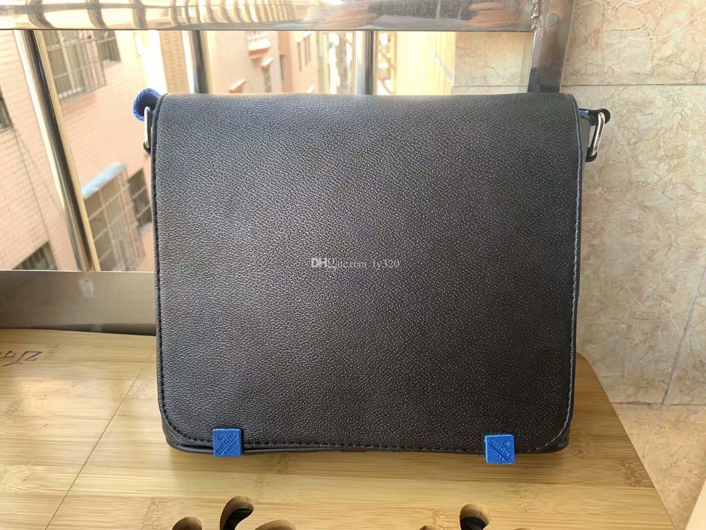 de qualidade high-end nova chegada famosa grife de moda clássico homens mensageiro sacos atravessar corpo mochila escolar saco deve 866 ombros Azul