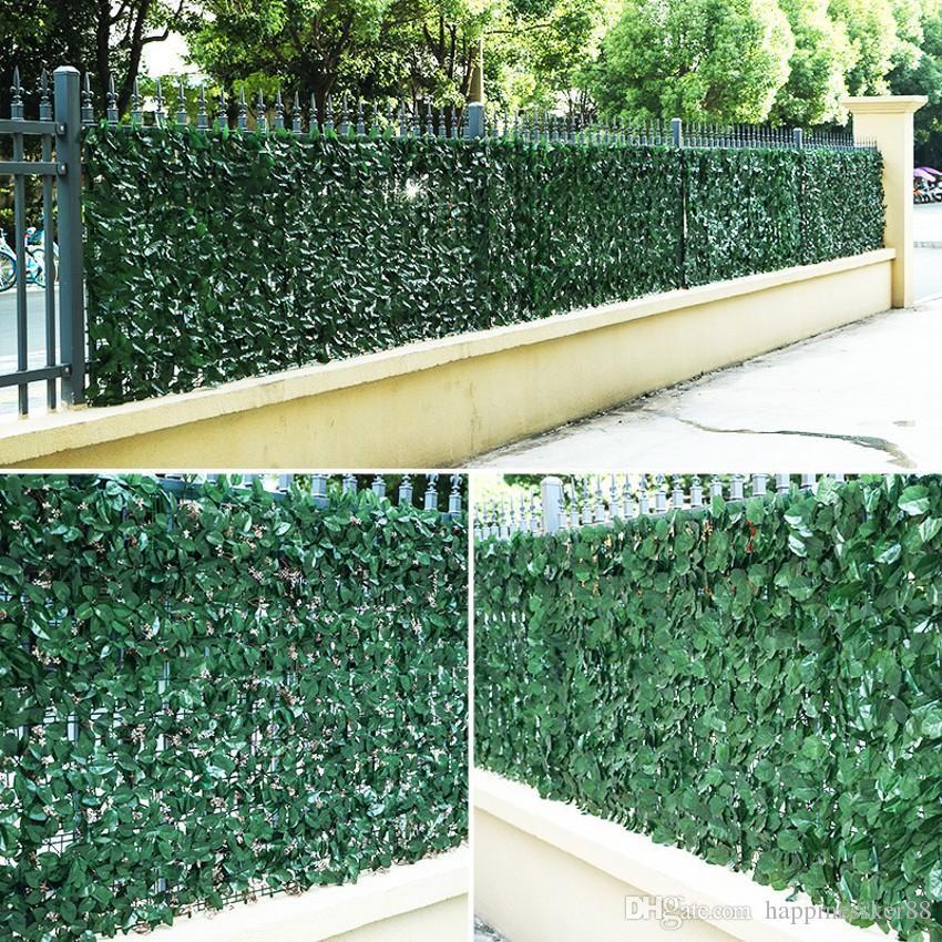2020 New 3m 5m Plastic Artificial Plants Fence Decor Garden Yard