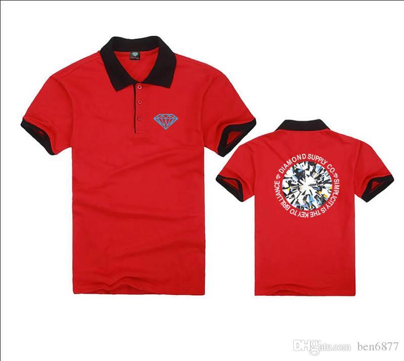 K1855874 spedizione gratuita mens moda t-shirt polo casual fitness skate swag marcelo colore nero bule rosso