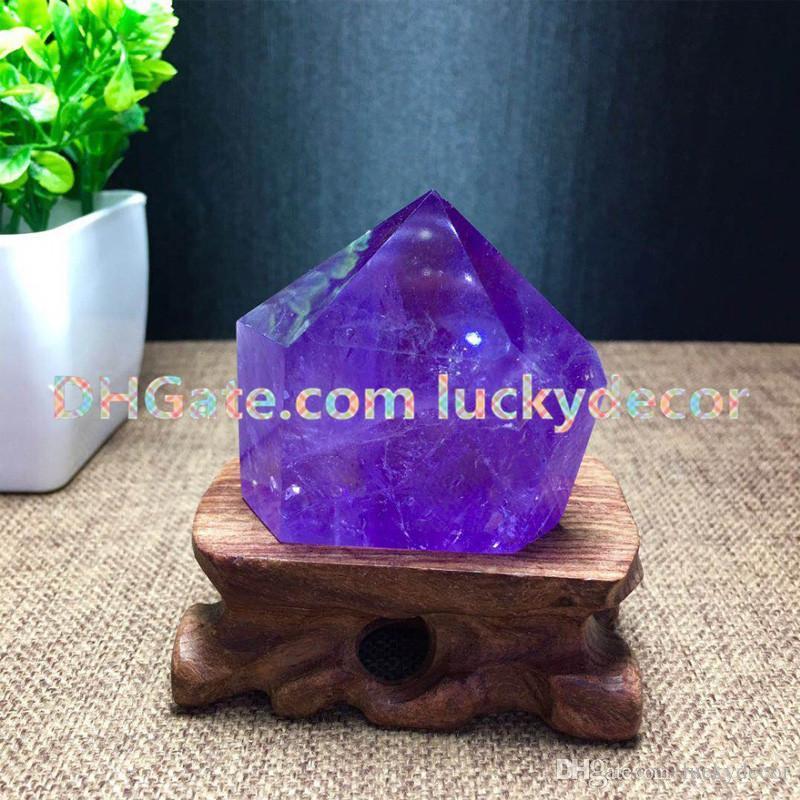 5Pcs Natural Amethyst Quartz Polished Points, Tower, Generator, Obelisk Specimen Chakra Stone February Birthstone Purple Crystal Ornaments