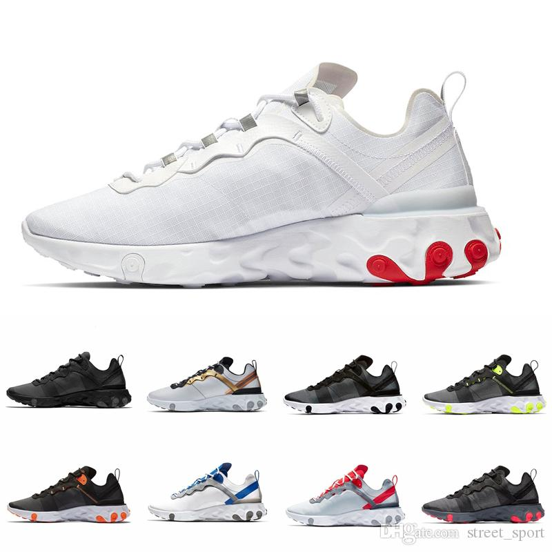 2019 Game Royal Solar Red React Element 55 Total Orange Running Shoes For Men Women Designer Sports Mens Trainers 55s Sneakers 36-45