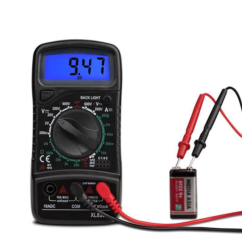 Dijital Kelepçe Multimetre Direnci Ohm Tester AC DC Kelepçe Ampermetre Transistör Test Voltmetre d İletişim LCR metre