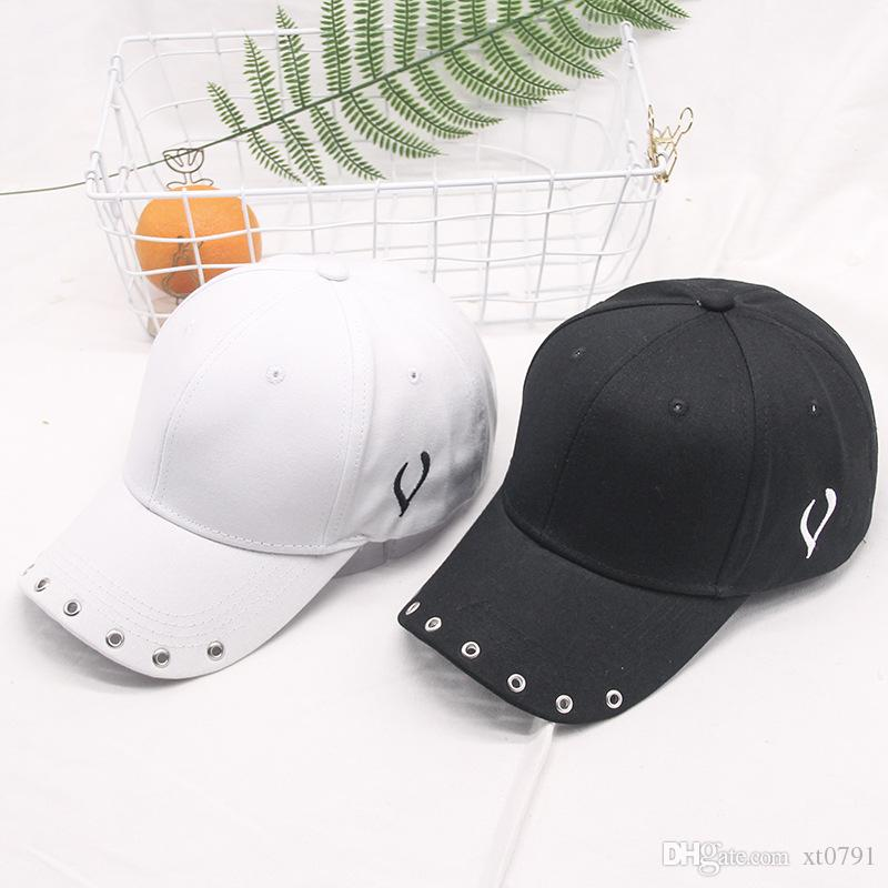 2020 aşk bir beyzbol şapkası kızın hip-hop şapka bahar / yaz trendi saf renk ördek kap öğrencinin yeni bir şapka almak seviyorum