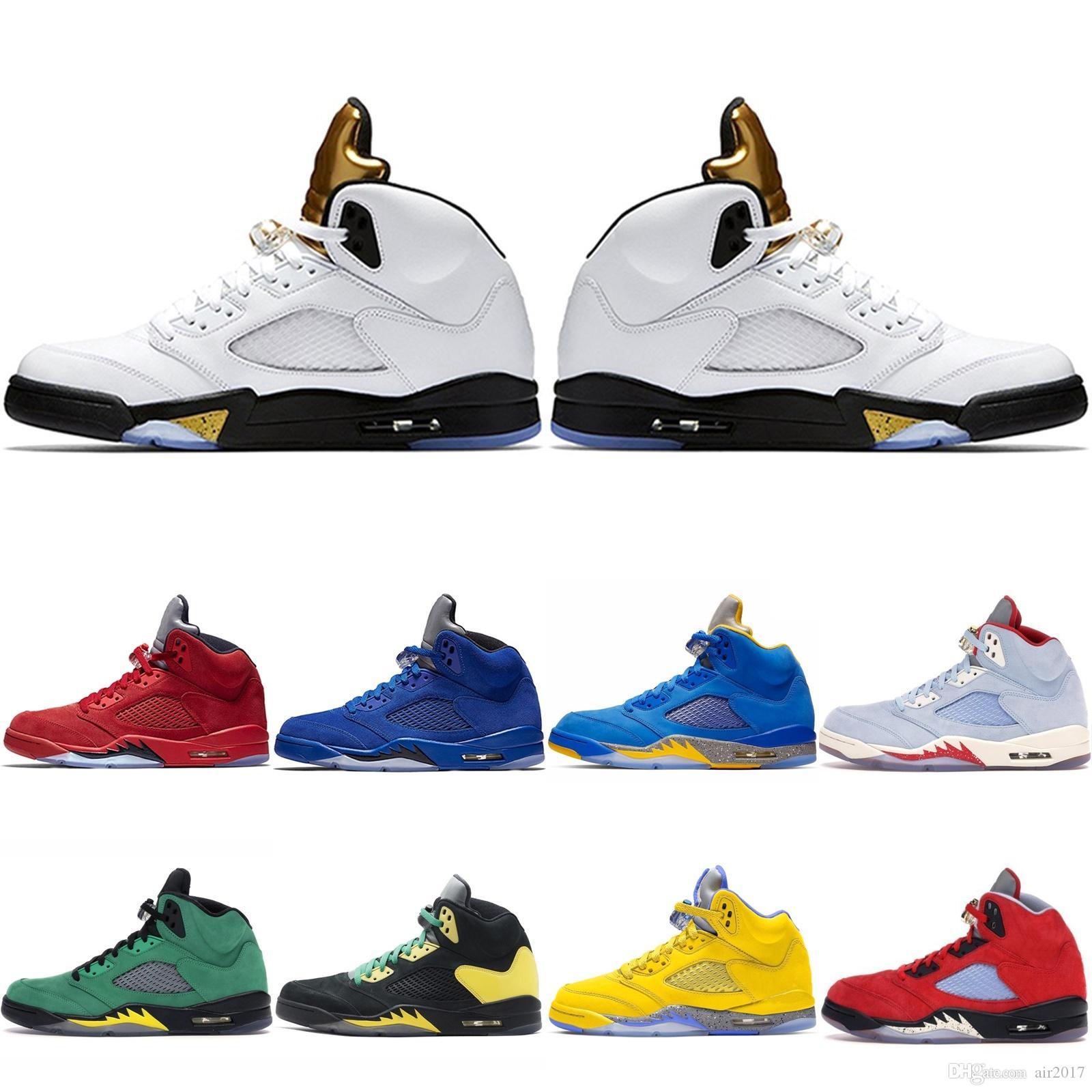 Retro 5 5s 11s 13s 11 12 Zapatos de Michigan baloncesto de los hombres amarillos rojos deportivas blancas negras zapatillas de deporte para hombre entrenadores
