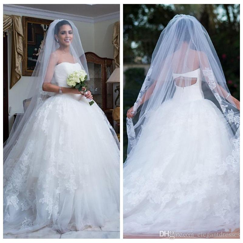 Cherie Dentelle Appliques Robe De Bal Robe De Mariage Robes 2019 Formelle Dames Robes De Mariée Printemps Vestidos De Mariage Personnalisé Plus La Taille