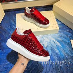 Luxus Männer Frauen Schuhe Top Echtes Leder Lovers bequemer Breathable Freizeitschuh Günstige beste Qualität c0176