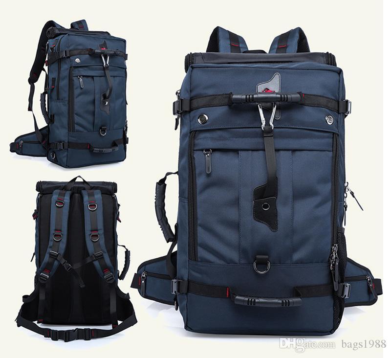 Mochila masculino mochila de viagem ao ar livre saco de desporto grande capacidade de três utilização impermeável prático grande saco de montanhismo mochila laptop
