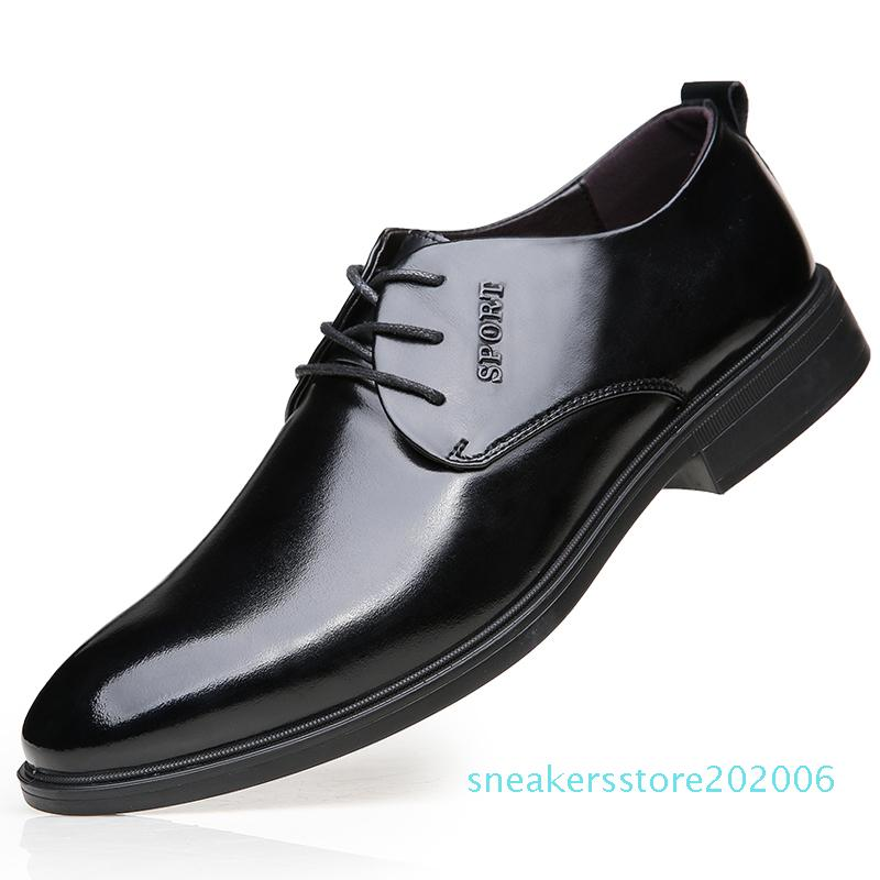 Hot Sale-Fashion Comfortable Business Men Dress Shoes Male For Men Shoes Adult Autumn Popular Lace Up Footwear Quality s6
