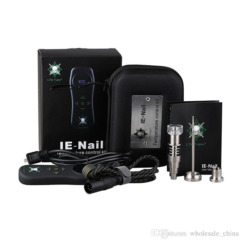 Original LTQ Vapor IE-Nail Wax Seco Erva 2 em 1 Dispositivo Kit Dabber 1.6ohm Calor Bobina Cap Dab Tool Vape Pen livre