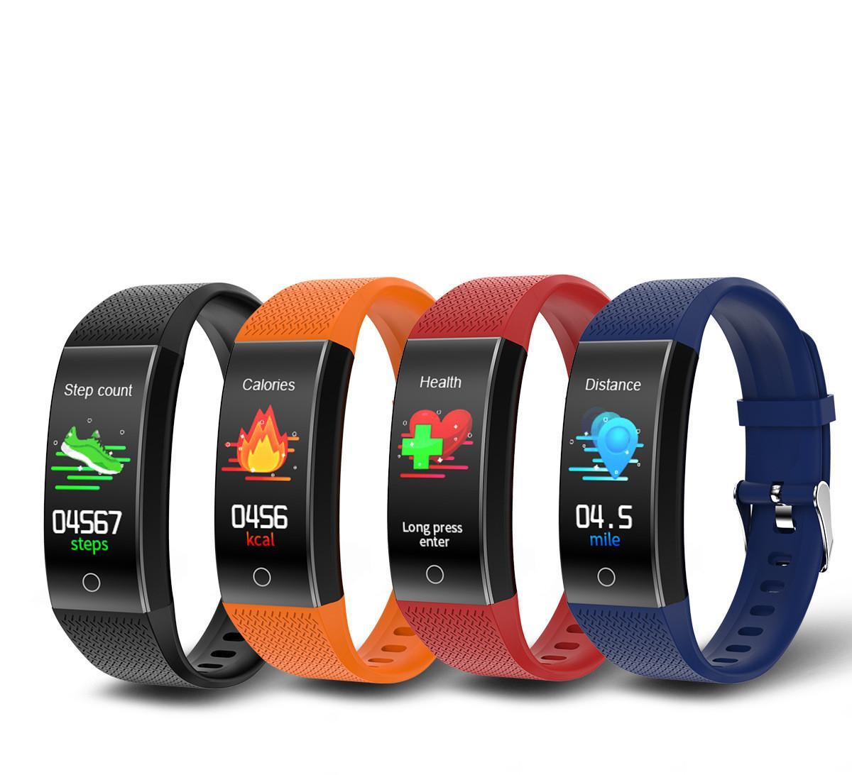 2020 температура монитора монитор умный браслет HD цветной экран QW18T водонепроницаемый сердечного ритма спортивный мониторинг сна умный браслет