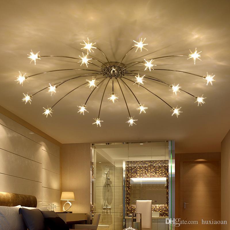Moderno LED Lampadario a soffitto Star Star Novità Camera per bambini Illuminazione Nordic Fixtures Lighting domestico Camera da letto Lampade da soggiorno