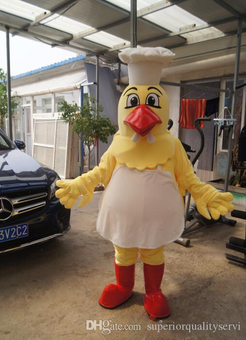 high quality Real Pictures Deluxe Chef Chicken mascot costume anime costumes advertising mascotte Adult Size factory direct free shipping
