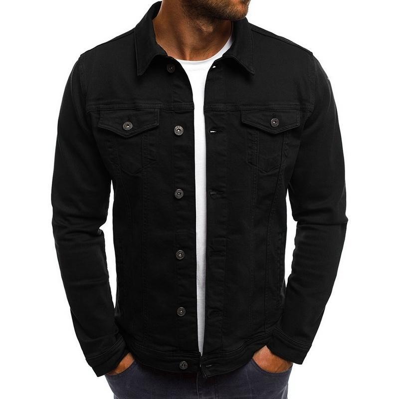 Denim Jacket Laamei 2019 dos homens de alta qualidade Moda Jeans Casacos Magro Casual Streetwear Vintage Men Jean Vestuário Plus Size S191019