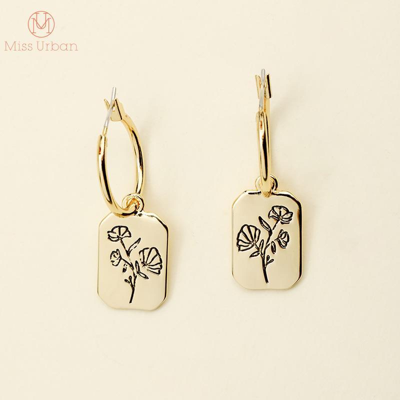 2019 nouvelle fleur chic motif symétrique cerceau boucles d'oreilles bonne chance charme talismans balancent boucle d'oreille femmes cadeau livraison gratuite
