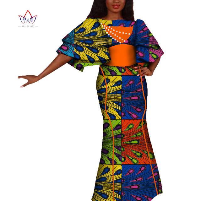 Kadınlar için afrika Elbise yaz Vintage Maxi uzun parti-elbise Dashiki seksi kulübü afrika riche bazin Femme Artı Boyutu WY4229