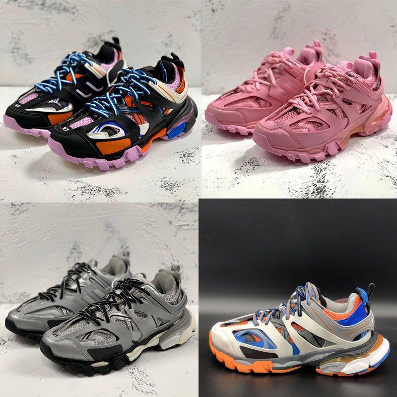 أحذية رجالية ثلاثية أحذية رياضية الأزياء الفاخرة عارضة أحذية النساء منصة في الهواء الطلق حذاء رياضة منصة الرجال أحذية عالية الجودة مصمم الأحذية