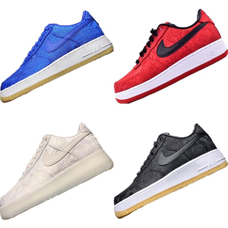 2020 Forzada Prm 1 CLOT escotados para niños patín zapatilla de deporte originales Forced 1 PRM tope de goma zoom integrado de aire los zapatos atléticos