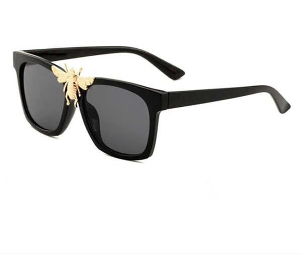 0239 new stylish big bee decorative sunglasses trendy big box sunglasses stylish glasses10
