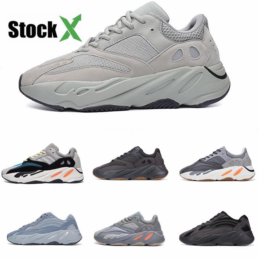 Cheap Kanye West Salt 700 V2 statici Malva inerzia 700S corridore dell'onda Mens scarpe da corsa per donne degli uomini di sport scarpe da tennis del progettista # DSK287
