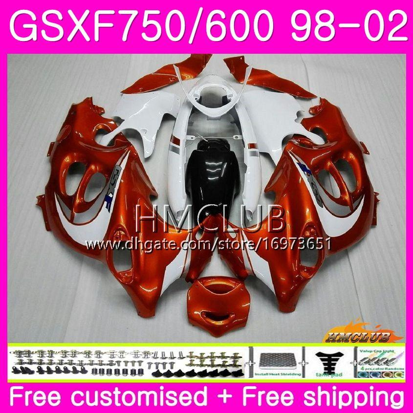 Kit For SUZUKI KATANA GSX750F GSXF750 1998 1999 2000 2001 2002 Body 3HM.0 GSXF 750 600 GSX600F GSXF600 98 99 00 01 02 Fairing Orange white