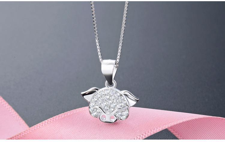 Weihnachtsgeschenk hochwertige Damen-S925 Sterling Silber Anhänger für Halsketten Silberschmuck Lieferanten Kubikzircon silberne Halskette DDS2120