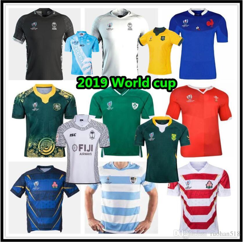 2019 فيجي الرجبي ولاية نيو جيرسي نيوزيلندا قميص 19 20 اليابان كأس العالم جنوب أفريقيا أستراليا ويلز الأرجنتين ساموا الرجبي جيرسي S-3XL