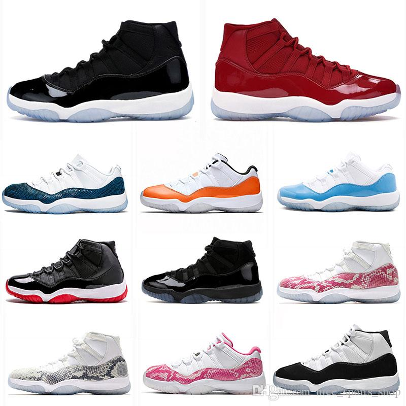 2019 Space Jam 11 Win Like XI mens basketball shoes 11s Concord Space Jam Heiress UNC Low LE Snakeskin men trainers sports shoes