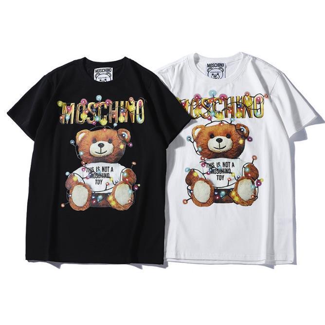 2019 New Fashion Designer di marca T Shirt Hip Hop Bianco Abbigliamento uomo Casual T-Shirt da donna con lettere stampate Uomo TShirt Taglia S-2XL