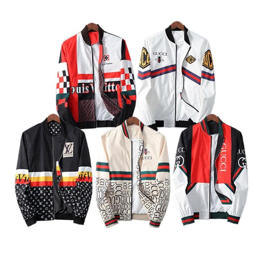 2020 Ceket Beyaz adamlar lüks tasarımcı kış Bombacı ceket uçuş pilotu Ceket rüzgarlık boy dış giyim gündelik Coats erkek giyim üst