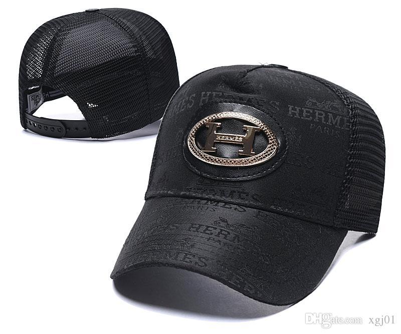 2020 nueva caliente! La manera barataHERMES sombreros para mujer Muchacha de lujo sombrero ajustabletapas de diseño de béisbolLos hombres Hip Hop de la marca del snapback caps