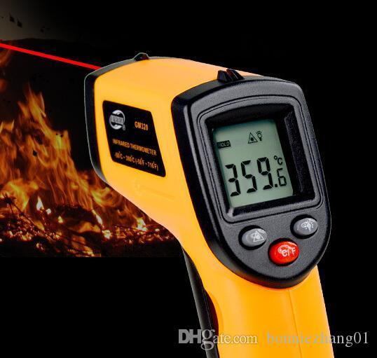 Non contatto Termometro a infrarossi IR GM320 PISTOLA LASER PORTATILE DIGITALE DELLA TEMPERATURA