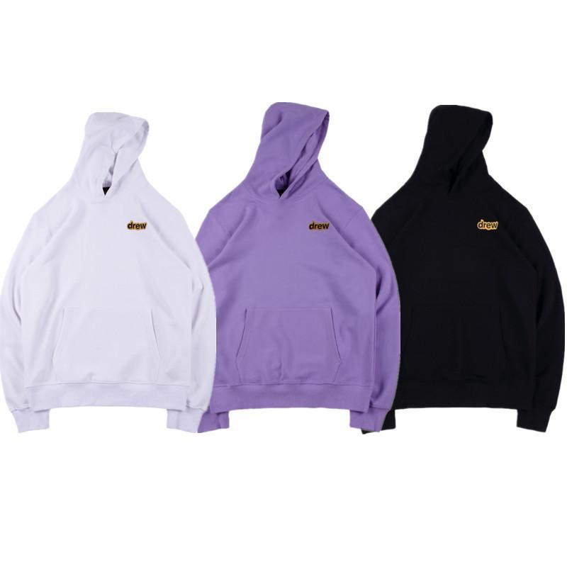 Drew House bordado Carta sudaderas con capucha del hip-hop de otoño Streetwear informal Diseñador jerséis con capucha del tamaño S-XL