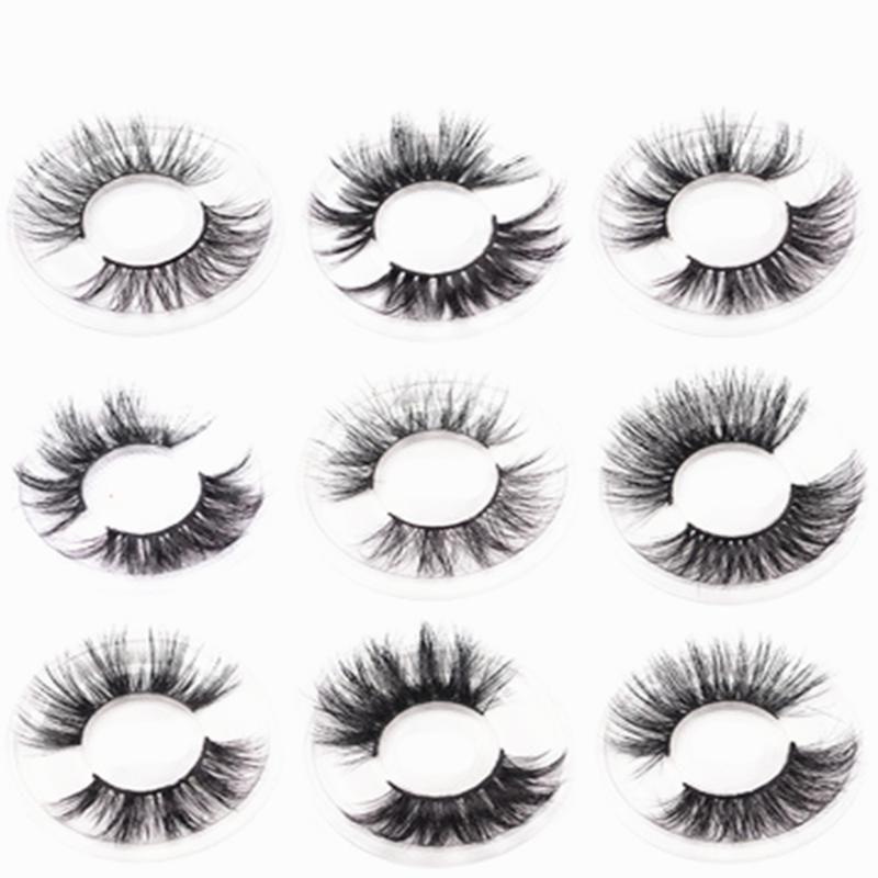 Volume Soft Mink eyelashes 10 pairs of handmade 3d mink lashes natural eyelashes extended beauty makeup Fashion false