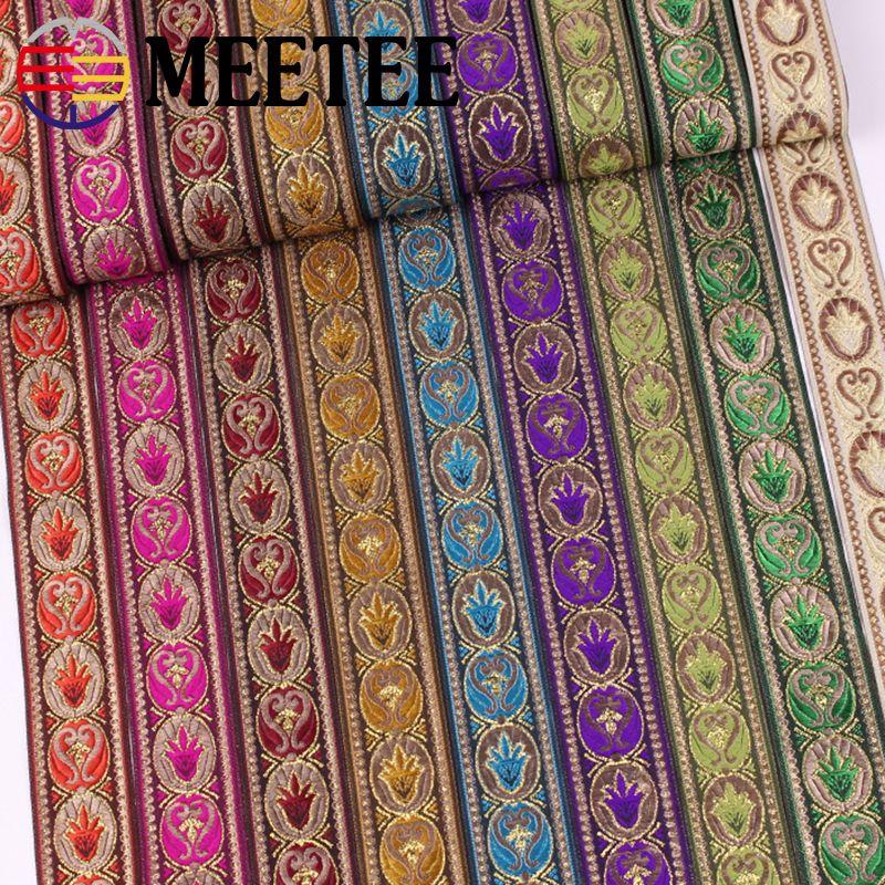 Cinta Jacquard Jacquard cinta MeeTee Nacional del viento del cordón del color de la ropa de vestir de costura Decorar bricolaje Accesorios ZK009