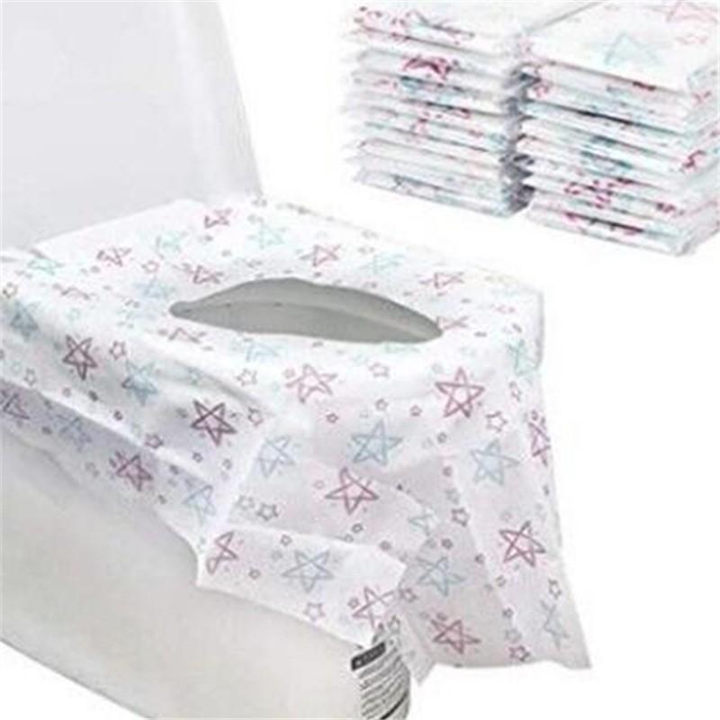 السفر المتاح مقعد المرحاض وسادة الأغطية نمط ستار إثبات محبوكة المياه القعادة حامي ورقة للطفل الكبار المراحيض العامة 12 5cr E19
