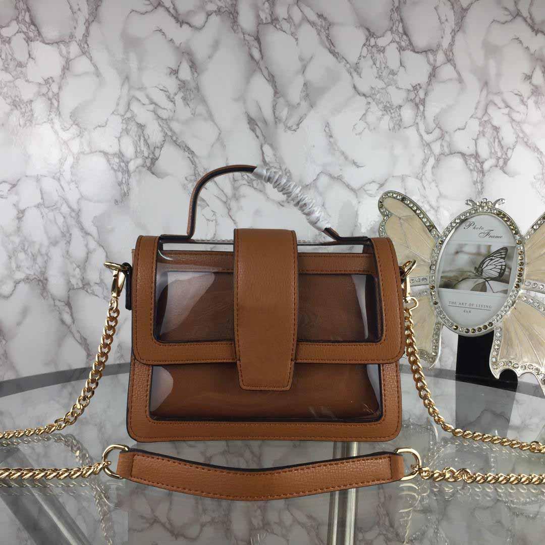 Women Leather Handbags Grace Cranes Top Handle Shoulder Bags