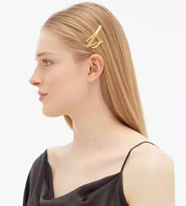 Oro 18k ottone barocco clip di capelli dal design di lusso delle donne capelli gioielli accessori libera la nave