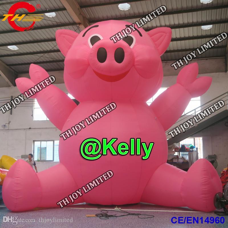 العملاق الوردي خنزير نفخ الكرتون للبيع الإعلان نفخ خنزير نفخ في الهواء الطلق الرسوم المتحركة الرسوم المتحركة الحيوانات الخنزير الرسوم المتحركة