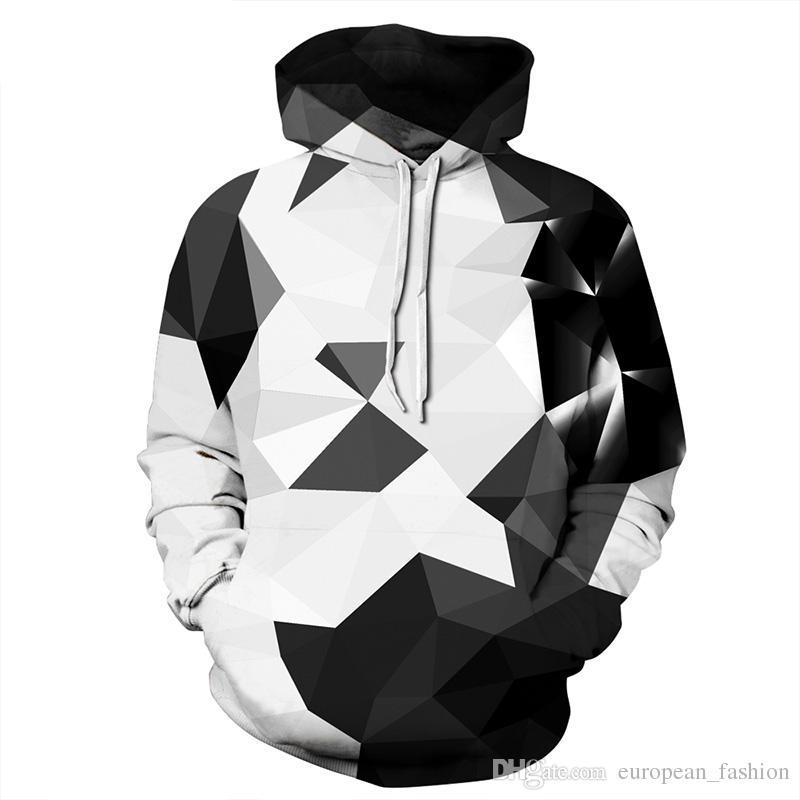 Fashion mens designer hoodies Argyle Color Blocks winter coats breathable hooded sweatshirt Plus Size designer hoodie tracksuit streetwear