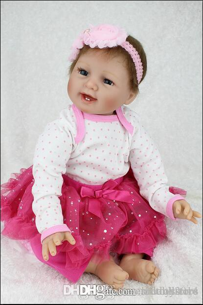 hxldoor Новая кукла реборн Babies куклы Реалистичные Реальный Looking Мягкая силиконовая Reborn Детские куклы Bonecas Brinquedos 22 дюймов