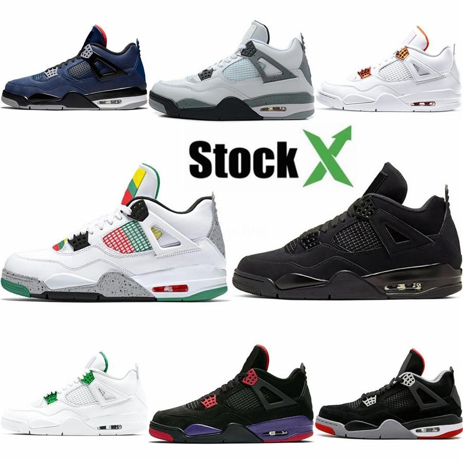 Nuevos Travis Scotts X 4S 2020 zapatos de baloncesto del Mens para los hombres Scotts entrenadores deportivos zapatillas de deporte Tamaño Nosotros 7-13 # 414